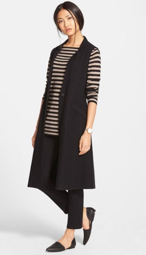 black-slim-pants-tan-tee-stripe-howtowear-black-vest-tailor-black-vest-tailor-black-shoe-flats-pony-spring-summer-brun-work.jpg