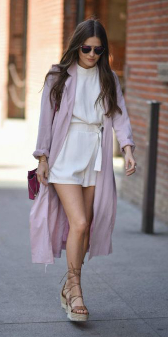 white-jumper-romper-tan-shoe-sandalw-sun-hairr-pink-light-jacket-coat-trench-spring-summer-weekend.jpg
