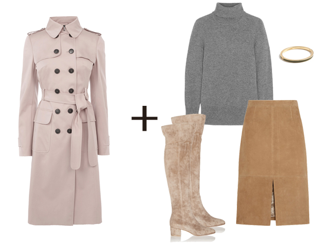 tan-pencil-skirt-grayl-sweater-turtleneck-tan-shoe-boots-pink-light-jacket-coat-trench-fall-winter-work.jpg