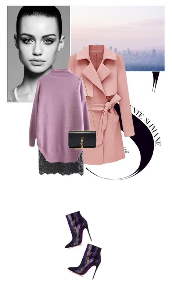 black-mini-skirt-purple-light-sweater-black-bag-purple-shoe-booties-pink-light-jacket-coat-trench-spring-summer-dinner.jpg
