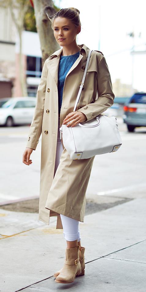 white-skinny-jeans-white-bag-tan-shoe-booties-bun-blonde-tan-jacket-coat-trench-spring-summer-weekend.jpg