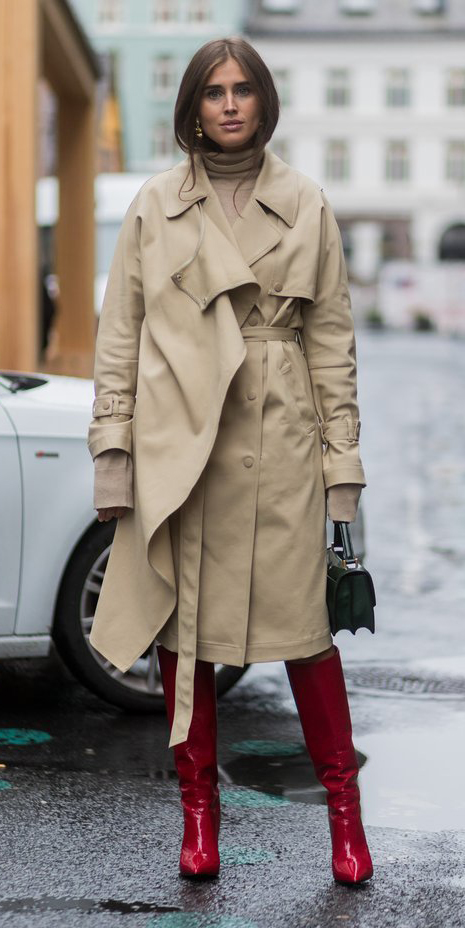 tan-sweater-turtleneck-hairr-green-bag-red-shoe-boots-tan-jacket-coat-trench-fall-winter-dinner.jpg