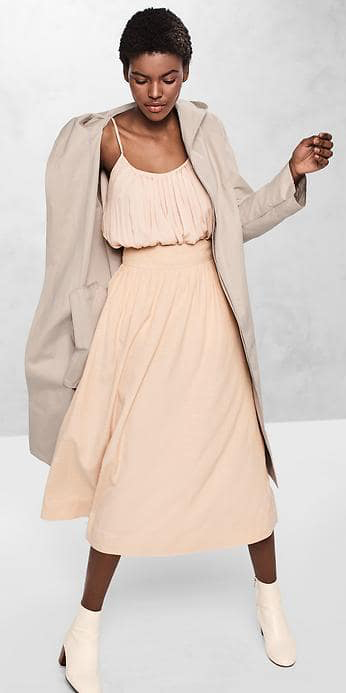 o-peach-dress-tank-tan-jacket-coat-trench-hooded-gap-17spring-white-shoe-booties-howtowear-fashion-style-outfit-spring-summer-brun-lunch.jpg