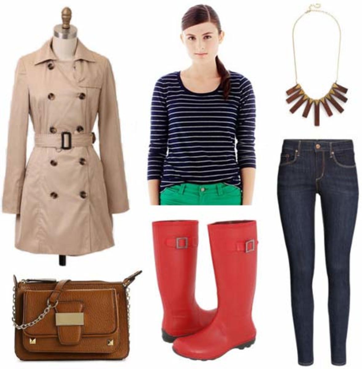 blue-navy-skinny-jeans-blue-navy-tee-stripe-bib-necklace-red-shoe-boots-rain-wellies-cognac-bag-tan-jacket-coat-trench-fall-winter-weekend.jpg