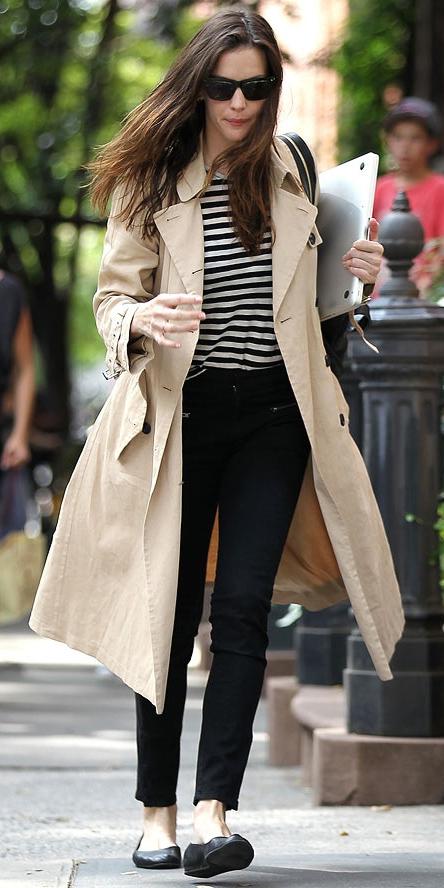 black-skinny-jeans-tan-tee-stripe-tan-jacket-coat-trench-spring-summer-weekend.jpg