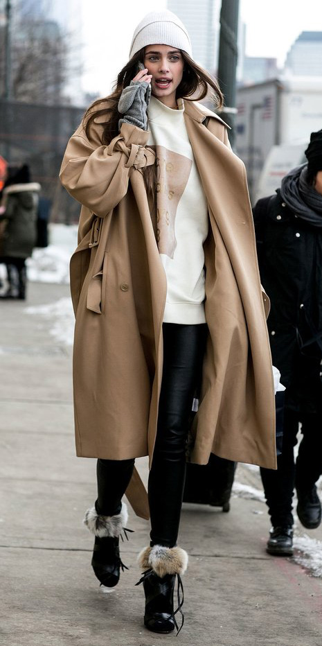 black-leggings-white-sweater-tan-jacket-coat-trench-sweatshirt-wear-outfit-fashion-fall-winter-beanie-hairr-lunch.jpg
