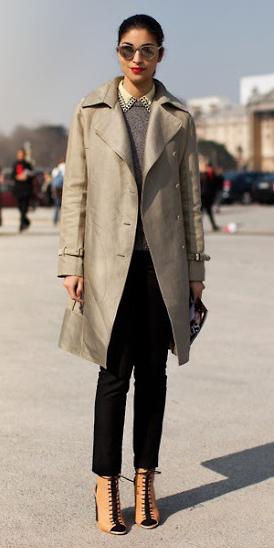 black-slim-pants-grayl-sweater-layer-brun-sun-pony-tan-shoe-booties-tan-jacket-coat-trench-fall-winter-lunch.jpg