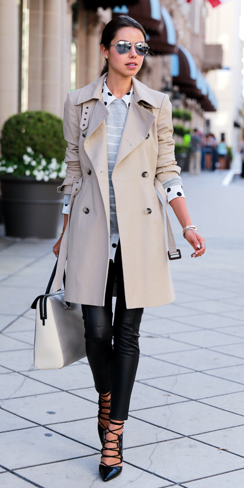 black-skinny-jeans-leather-grayl-sweater-layer-brun-sun-pony-white-bag-black-shoe-pumps-dot-print-tan-jacket-coat-trench-fall-winter-lunch.jpg