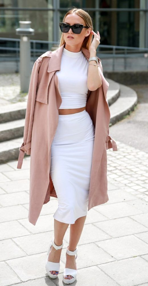 white-midi-skirt-white-crop-top-sun-blonde-white-shoe-sandalh-peach-jacket-coat-trench-spring-summer-lunch.jpg