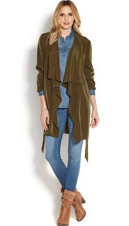 blue-med-skinny-jeans-blue-med-collared-shirt-green-olive-jacket-coat-trench-cognac-shoe-booties-howtowear-fashion-style-outfit-blonde-fall-winter-weekend.jpg