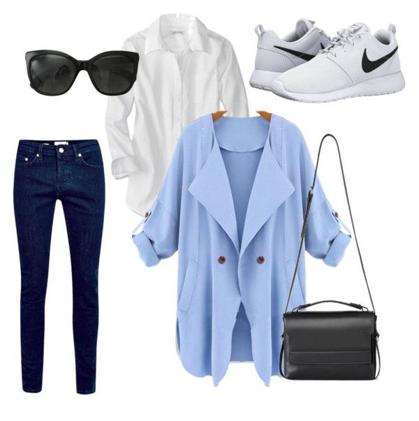 blue-navy-skinny-jeans-white-collared-shirt-blue-light-jacket-coat-trench-black-bag-sun-white-shoe-sneakers-howtowear-fashion-style-outfit-spring-summer-lunch.jpg