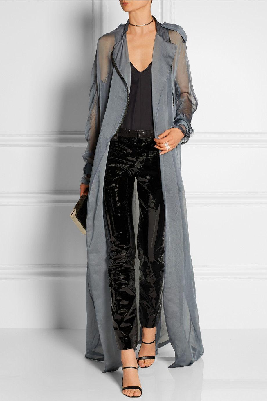 black-skinny-jeans-patent-leather-black-cami-choker-sheer-black-shoe-sandalh-maxi-blue-light-jacket-coat-trench-spring-summer-dinner.jpg