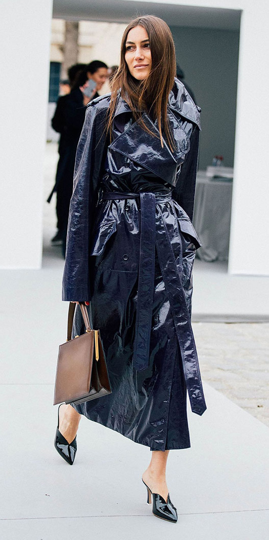 brun-brown-bag-patent-leather-blue-navy-jacket-coat-trench-fall-winter-dinner.jpg