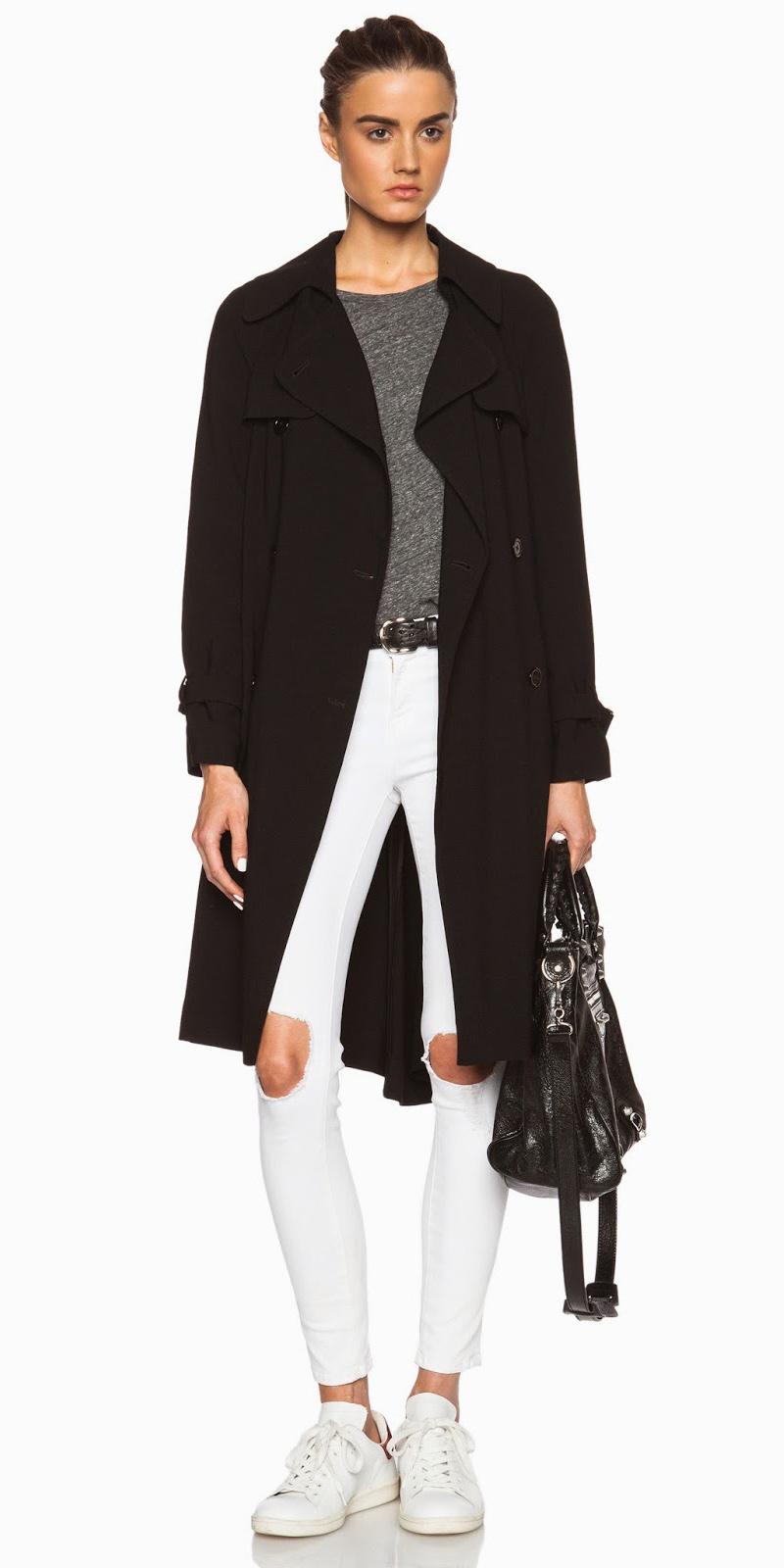 white-skinny-jeans-grayd-tee-belt-hairr-black-jacket-coat-trench-white-shoe-sneakers-black-bag-fall-winter-weekend.jpg