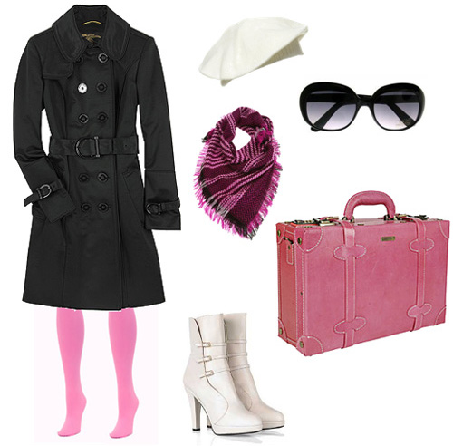pink-tights-white-shoe-booties-burgundy-scarf-sun-beanie-sun-black-jacket-coat-trench-fall-winter-lunch.jpg