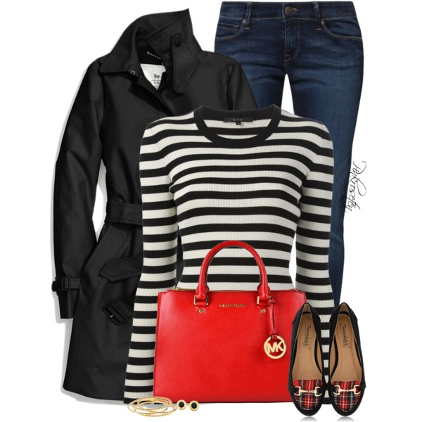 blue-navy-skinny-jeans-black-tee-stripe-red-bag-black-jacket-coat-trench-red-bag-black-shoe-loafers-studs-fall-winter-lunch.jpg