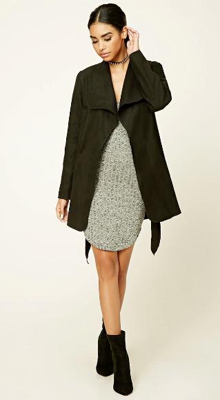 grayl-dress-black-shoe-booties-black-jacket-coat-trench-bun-bodycon-wear-style-fashion-fall-winter-choker-brunette-lunch.jpg