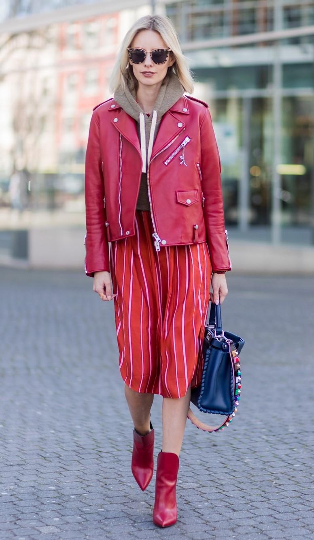 red-dress-tan-sweater-sweatshirt-hoodie-red-jacket-moto-blonde-sun-blue-bag-red-shoe-booties-mono-lisahahnbueck-fall-winter-lunch-layer.jpg