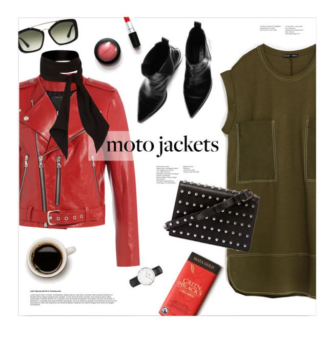 green-olive-dress-tshirt-black-bag-black-shoe-booties-red-jacket-moto-black-scarf-neck-sun-watch-fall-winter-lunch.jpg