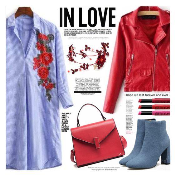 blue-light-dress-shirt-red-jacket-moto-blue-shoe-booties-red-bag-fall-winter-lunch.jpg
