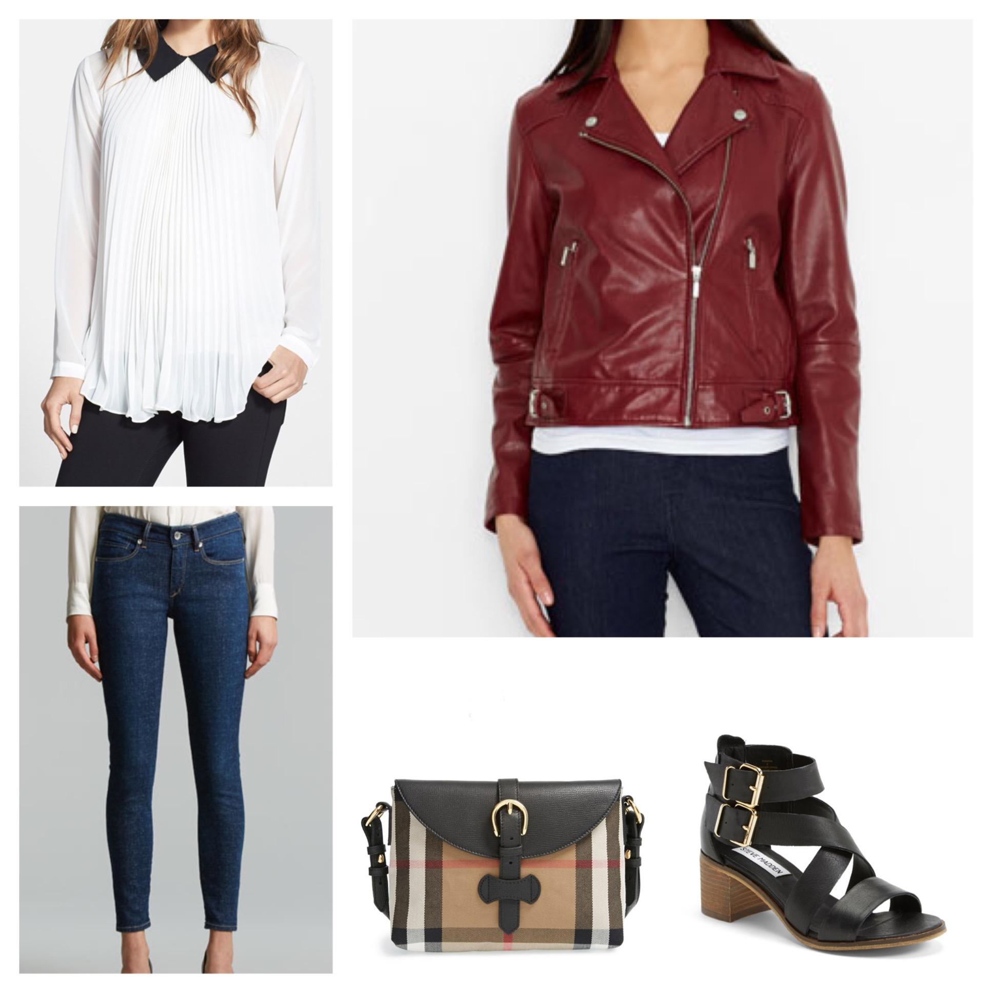 blue-navy-skinny-jeans-red-jacket-moto-white-top-blouse-tan-bag-black-shoe-sandalh-spring-summer-weekend.jpg