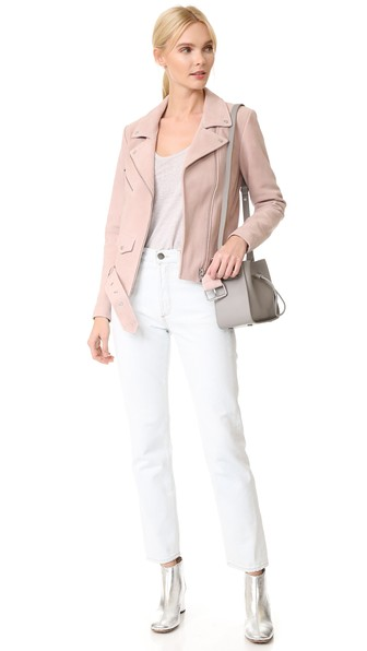 white-skinny-jeans-white-tee-gray-bag-pink-light-jacket-moto-blonde-pony-white-shoe-booties-fall-winter-lunch.jpg