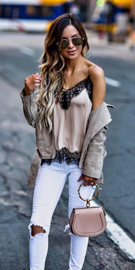 white-skinny-jeans-lace-tan-jacket-moto-suede-sun-tan-bag-tan-cami-spring-summer-hairr-lunch.jpg