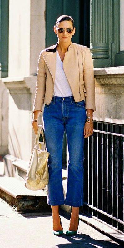 blue-med-crop-jeans-white-tee-tan-jacket-moto-sun-bun-tan-bag-green-shoe-pumps-hairr-fall-winter-lunch.jpg