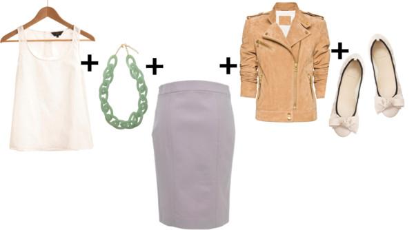 grayl-pencil-skirt-necklace-white-shoe-flats-white-cami-tan-jacket-moto-spring-summer-work.jpg