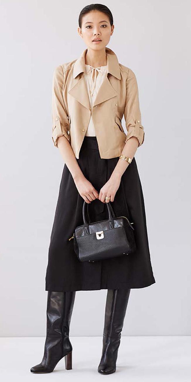 black-midi-skirt-white-top-pony-black-bag-black-shoe-boots-tan-jacket-moto-fall-winter-brun-work.jpg