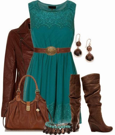 blue-med-dress-aline-belt-brown-shoe-boots-brown-earrings-brown-bag-brown-jacket-moto-teal-style-outfit-fall-winter-lunch.jpg