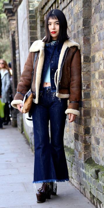 blue-navy-flare-jeans-blue-navy-jacket-jean-layer-brown-shoe-booties-shearling-brown-jacket-moto-fall-winter-brun-lunch.jpg