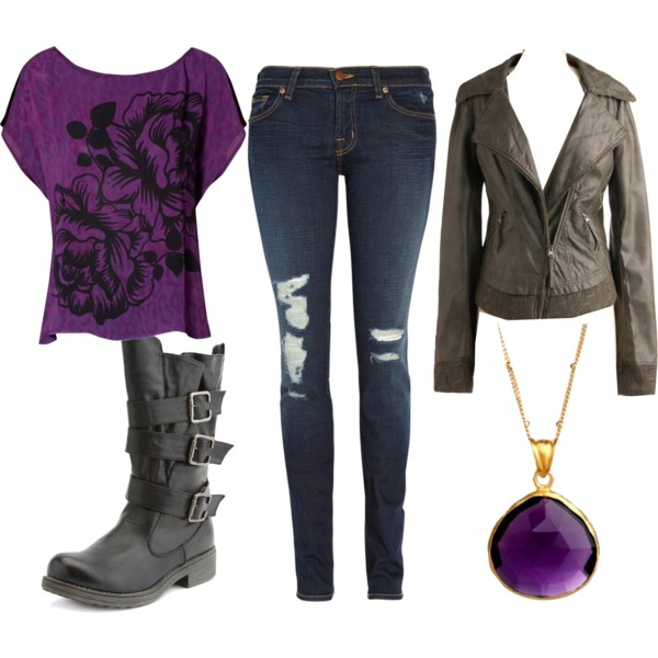 blue-navy-skinny-jeans-purple-royal-graphic-tee-brown-shoe-booties-necklace-pend-brown-jacket-moto-fall-winter-outfit-weekend.jpg