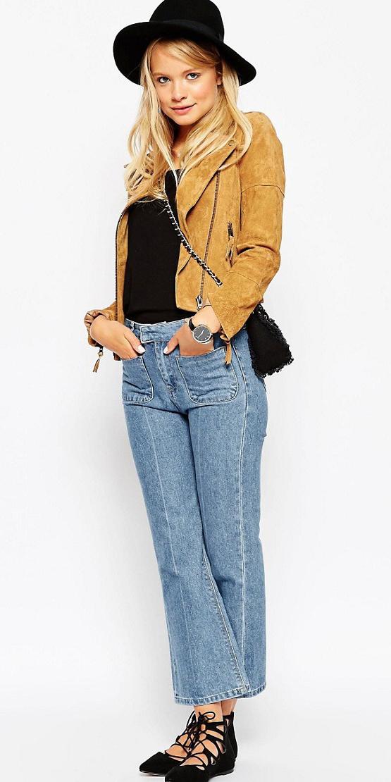 blue-light-crop-jeans-black-tee-yellow-jacket-moto-suede-hat-black-shoe-flats-black-bag-wear-fashion-style-fall-winter-blonde-lunch.jpg