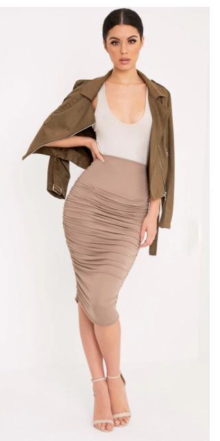 tan-midi-skirt-white-tank-bodysuit-green-olive-jacket-moto-bun-fall-winter-brun-dinner.jpg
