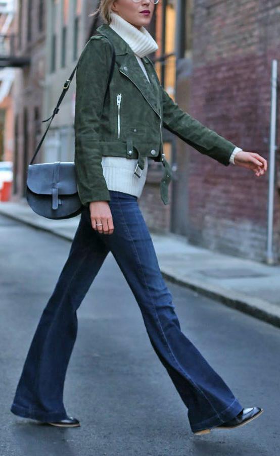 blue-navy-flare-jeans-white-sweatersl-green-olive-jacket-moto-black-bag-fall-winter-weekend.jpg