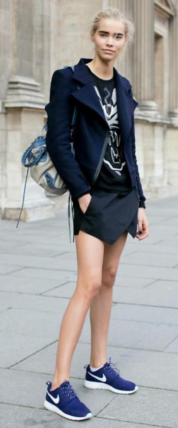 black-mini-skirt-black-tee-blue-navy-jacket-moto-blue-shoe-sneakers-bun-fashion-style-outfit-fall-winter-graphic-basic-model-street-blonde-weekend.jpg