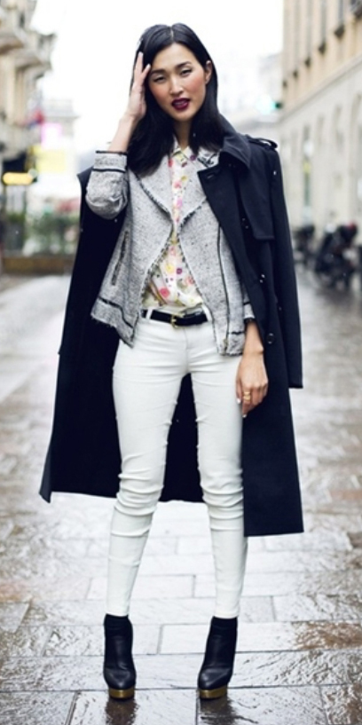 white-skinny-jeans-white-top-blouse-floral-grayl-jacket-moto-belt-black-shoe-booties-howtowear-style-fashion-fall-winter-layer-black-jacket-coat-brun-lunch.jpg
