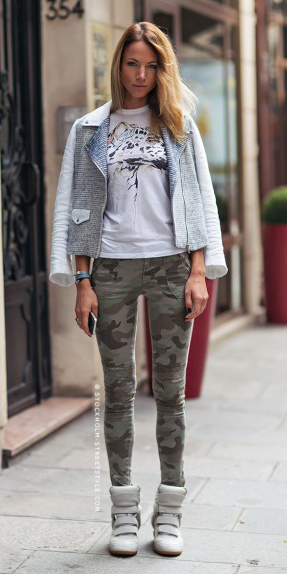 green-olive-skinny-jeans-camo-print-white-graphic-tee-gray-shoe-sneakers-grayl-jacket-moto-spring-summer-blonde-weekend.jpg