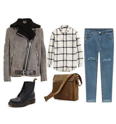 blue-med-boyfriend-jeans-white-plaid-shirt-grayl-jacket-moto-shearling-brown-bag-black-shoe-booties-fall-winter-weekend.jpg