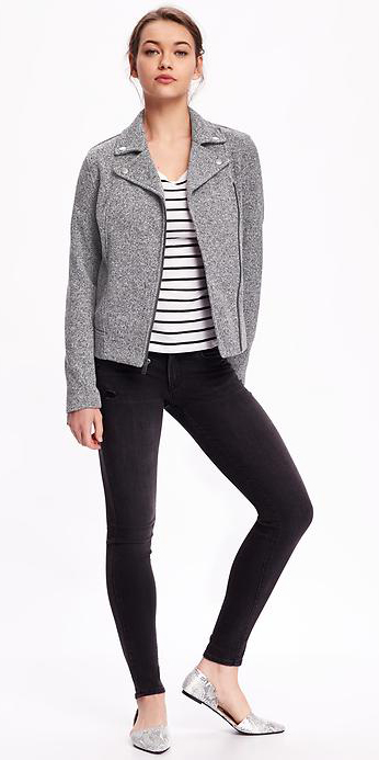 black-skinny-jeans-black-tee-stripe-howtowear-style-fashion-spring-summer-grayl-jacket-moto-gray-shoe-flats-bun-brun-weekend.jpg