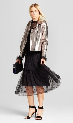 black-dress-midi-grayl-jacket-moto-silver-metallic-blonde-black-shoe-sandalh-fall-winter-dinner.jpg