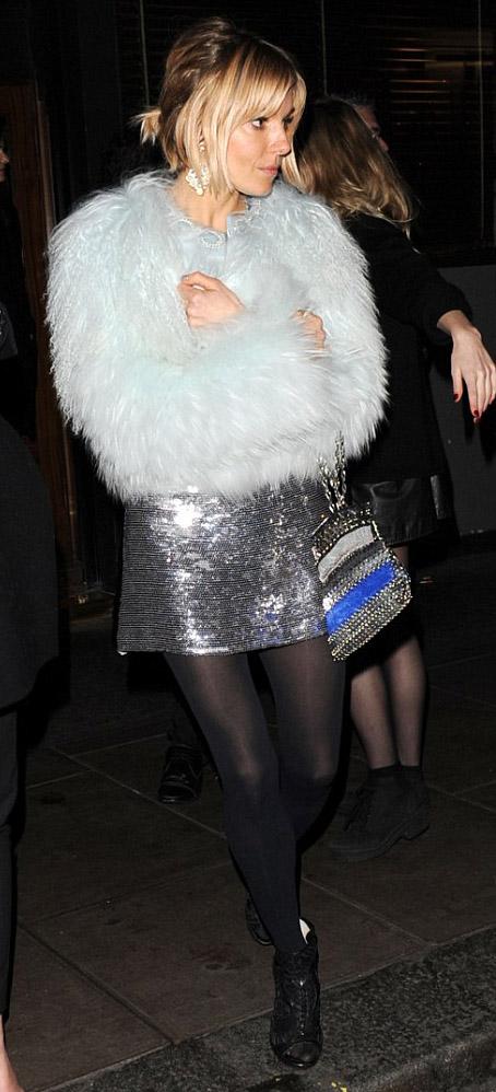 grayl-dress-mini-black-tights-black-shoe-booties-blue-light-jacket-coat-fur-fuzz-siennamiller-fall-winter-blonde-dinner.jpg