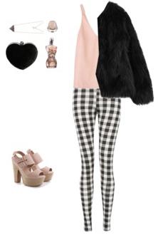 white-slim-pants-r-pink-light-cami-black-jacket-coat-fur-tan-shoe-sandalh-platform-black-bag-gingham-spring-summer-dinner.jpg