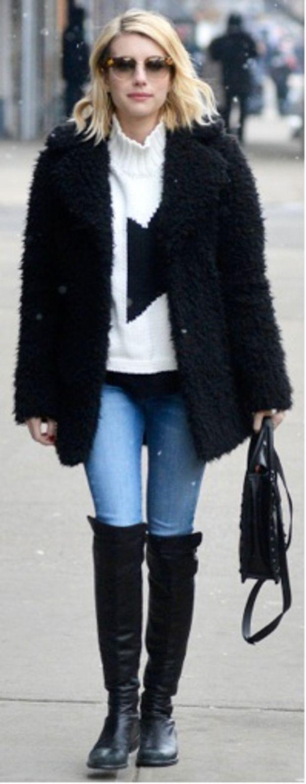 blue-light-skinny-jeans-white-sweater-black-jacket-coat-fur-fuzz-sun-black-shoe-boots-black-bag-howtowear-fashion-style-outfit-fall-winter-turtleneck-emmarobertscelebrity-street-blonde-weekend.jpg