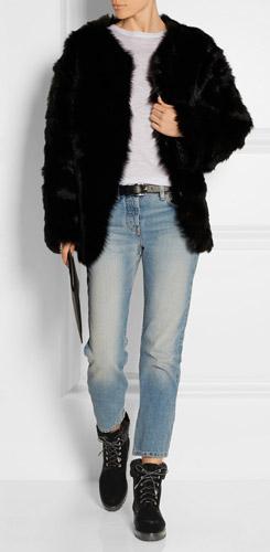 blue-light-skinny-jeans-white-tee-black-jacket-coat-fur-fuzz-black-shoe-booties-belt-wear-fashion-style-fall-winter-lunch.jpg