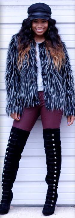 purple-royal-skinny-jeans-white-sweater-black-jacket-coat-fur-howtowear-fashion-style-outfit-fall-winter-fuzzy-cap-overtheknee-black-shoe-boots-hat-brun-dinner.jpg
