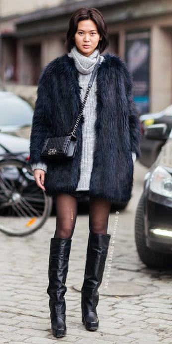 grayl-dress-sweater-black-jacket-coat-fur-black-tights-black-bag-brun-black-shoe-boots-fall-winter-lunch.jpg