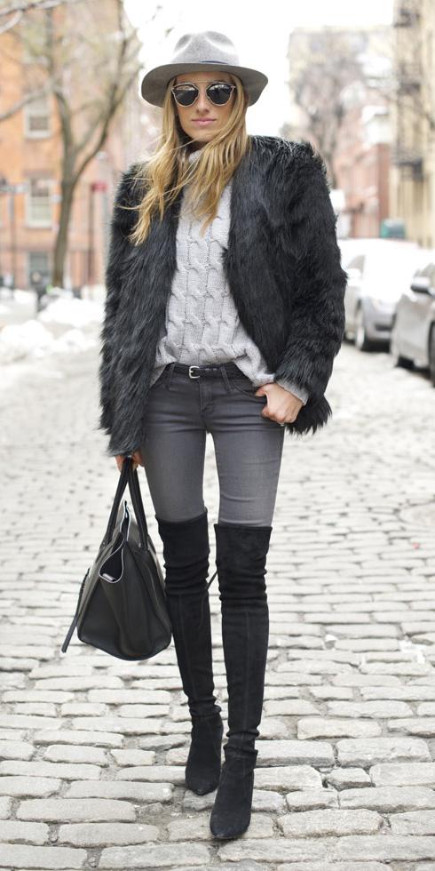 how-to-style-grayd-skinny-jeans-white-sweater-turtleneck-belt-black-shoe-boots-otk-blonde-sun-hat-black-jacket-coat-fur-fall-winter-fashion-lunch.jpg