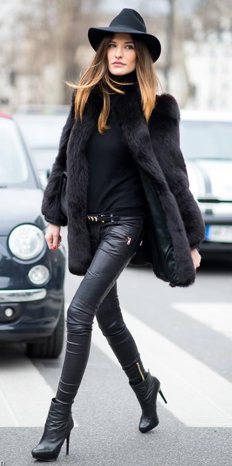 black-skinny-jeans-leather-mono-black-sweater-turtleneck-black-jacket-coat-fur-hat-hairr-black-shoe-booties-fall-winter-lunch.jpg
